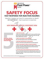 "Picture of Fluid Injection Safety Poster 18"" x 24"""
