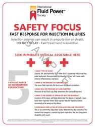 "Picture of Fluid Injection Safety Poster 24"" x 36"""