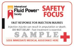 Picture of Fluid Injection Safety Cards -10 pack