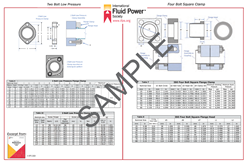 Picture of 2 and 4 Bolt Square Clamp  Poster